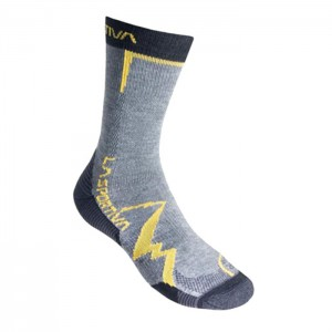MEIAS MOUNTAIN SOCKS GREY/YELLOW