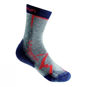 MEIAS MOUNTAIN SOCKS GREY/NAVY BLUE