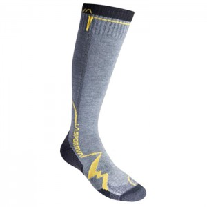 MEIAS MOUNTAIN SOCKS LONG GREY/YELLOW