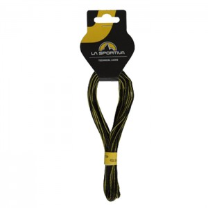 MOUNTAIN RUNNING LACES 132/52 BLACK/YELLOW