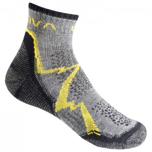 MEIAS MOUNTAIN HIKING SOCKS GREY/YELLOW