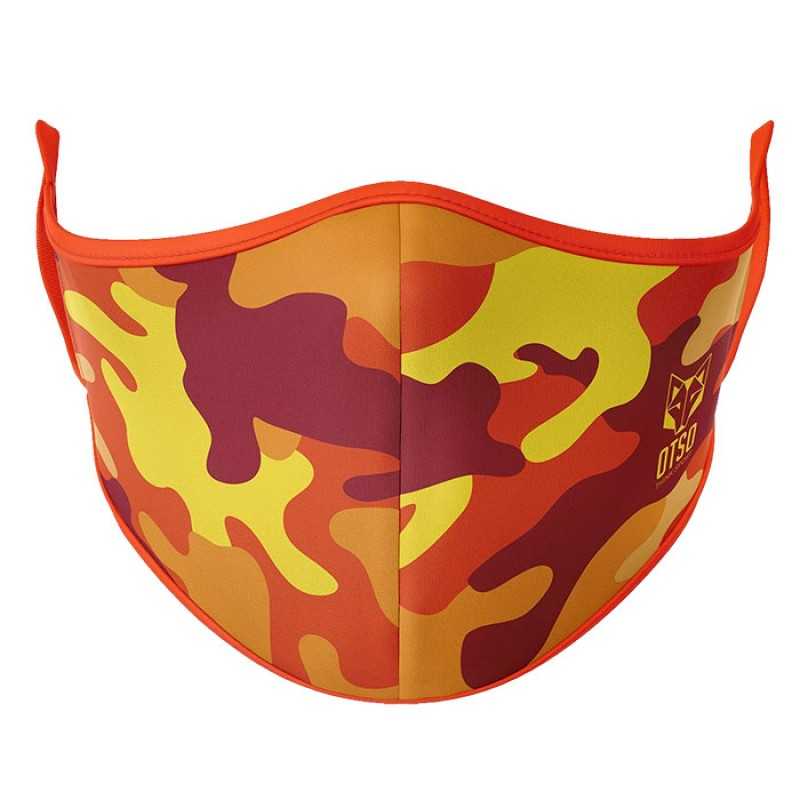 FACE MASK CAMO ORANGE