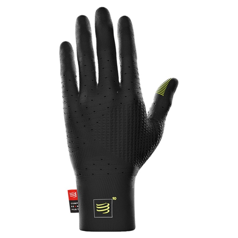 3D THERMO SEAMLESS RUNNING GLOVES BLACK EDITION 10