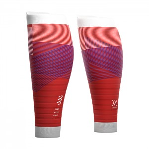 CALF SLEEVES R2 OXYGEN BLOOD ORANGE