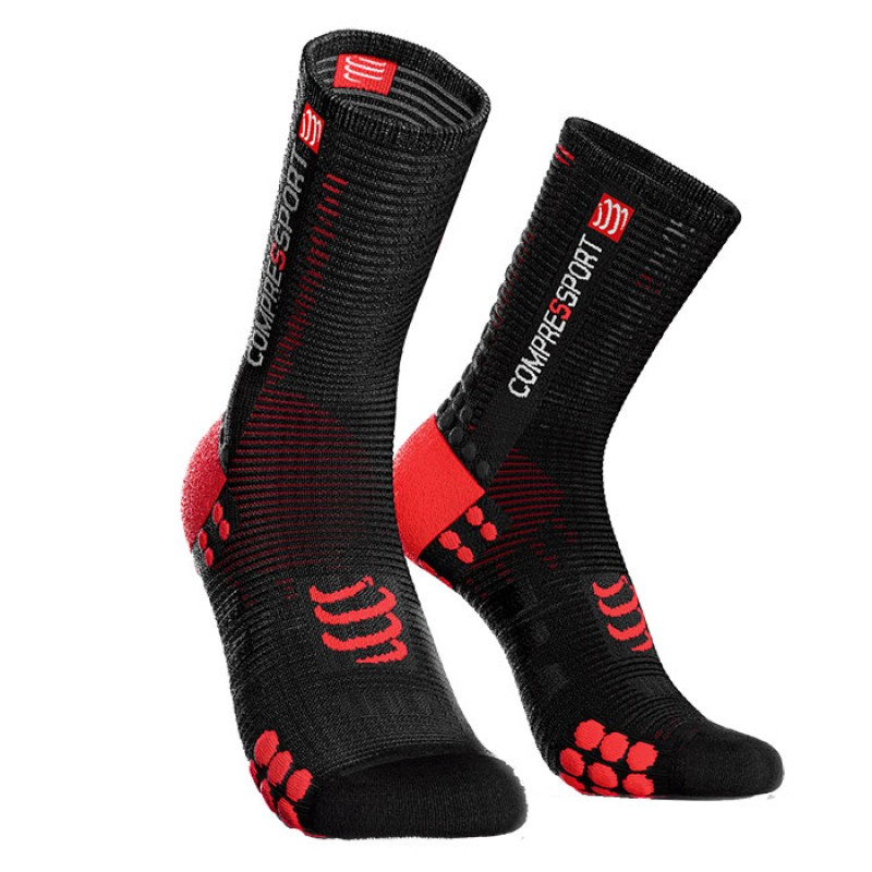 SOCKS RACING SOCKS V3.0 BIKE BLACK/RED