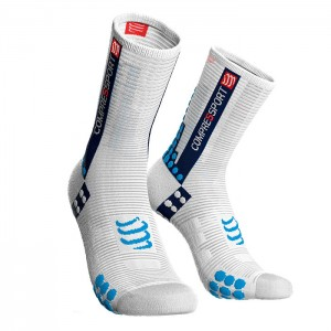 SOCKS RACING SOCKS V3.0 BIKE WHITE/BLUE