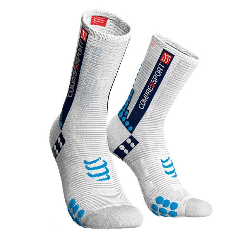 SOCKS RACING SOCKS V3.0 BIKE WHITE/BLUE
