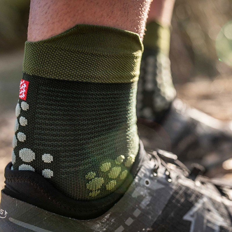 PRO RACING SOCKS V3.0 TRAIL SMART STEALTH GREEN
