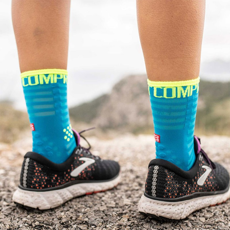 PRO RACING SOCKS V3.0 ULTRALIGHT RUN HIGH BLUE
