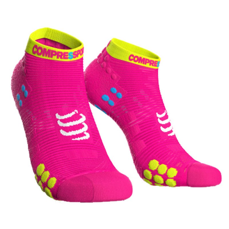 SOCKS RACING SOCKS V3.0 RUN LOW FLUO PINK