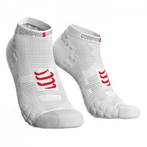 SOCKS RACING SOCKS V3.0 RUN LOW SMART WHITE
