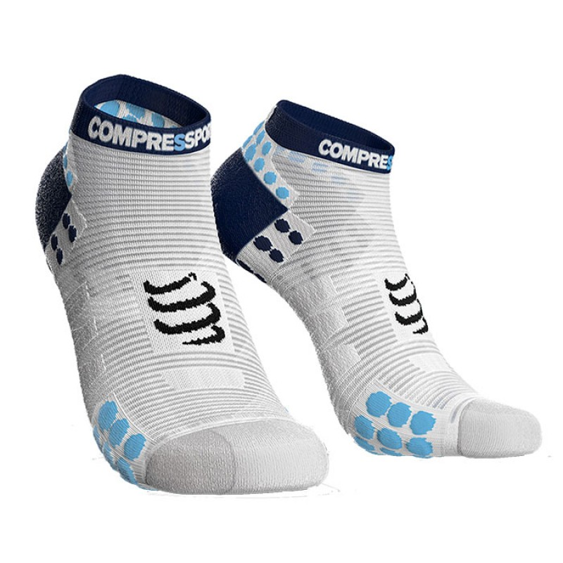 SOCKS RACING SOCKS V3.0 RUN LOW WHITE/BLUE