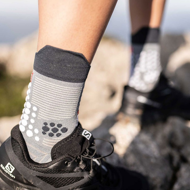 RACING SOCKS V3.0 TRAIL GREY MELANGE