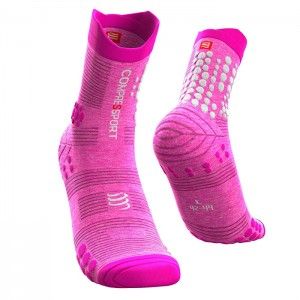 RACING SOCKS V3.0 TRAIL PINK MELANGE