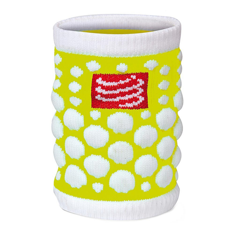 SWEATBAND 3D DOT FLUO YELLOW