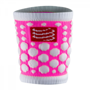 SWEAT BAND 3D DOT FLUO ROSA