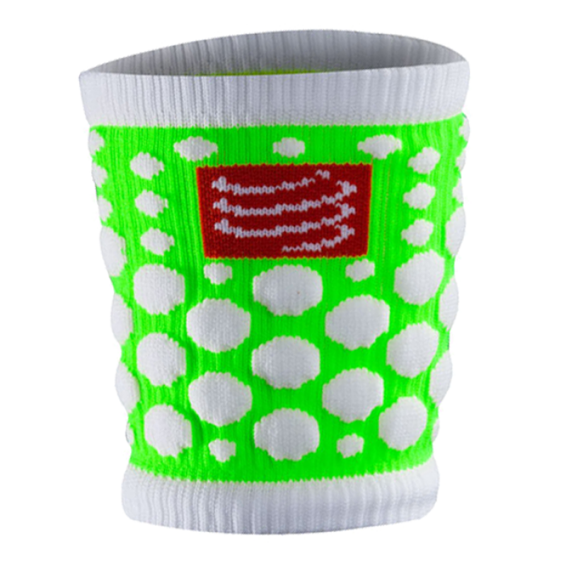 SWEATBAND 3D DOT FLUO GREEN