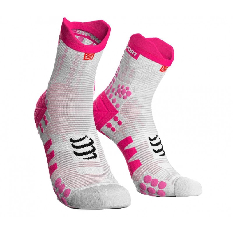 SOCKS RACING SOCKS V3.0 RUNNING HIGH WHITE/PINK