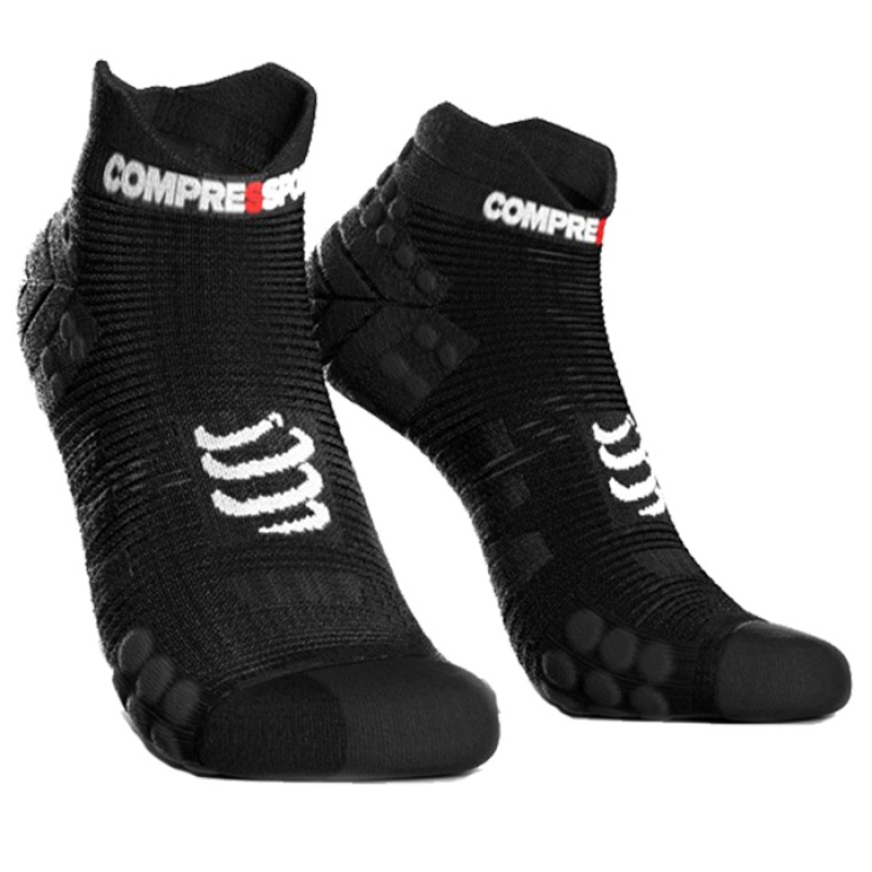 MEIAS RACING SOCKS V3.0 RUNNING LOW SMART PRETO