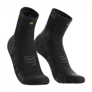 MEIAS PRO RACING SOCKS V3.0 RUNNING HIGH BLACK EDI...