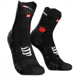 SOCKS RACING SOCKS V3.0 RUNNING HIGH BLACK