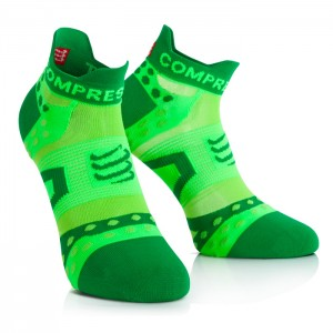 PRO RACING SOCKS ULTRALIGHT RUN LOW CUT GREEN