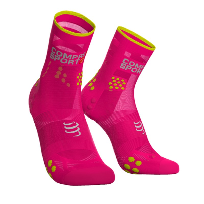 MEIAS RACING SOCKS V3.0 ULTRALIGHT RUNNING HIGHT PINK