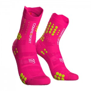 MEIAS RACING SOCKS V3.0 TRAIL FLUO PINK