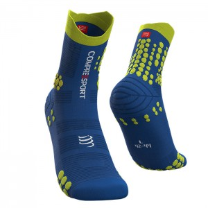 MEIAS PRO RACING SOCKS V3.0 TRAIL BLUE LOLITE/LIME
