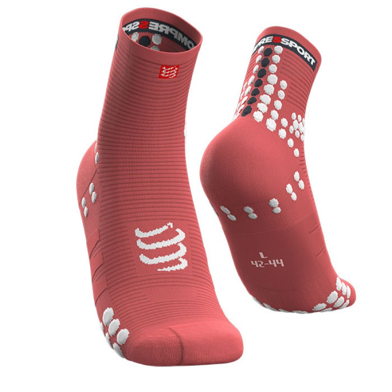 MEIAS PRO RACING SOCKS V3.0 RUN HIGH CORAL