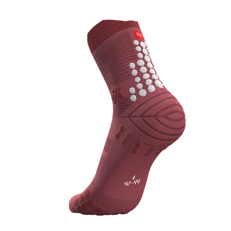 MEIAS PRO RACING SOCKS V3.0 TRAIL GARNET ROSE