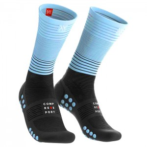 MEIAS MID COMPRESSION PRETO/AZUL