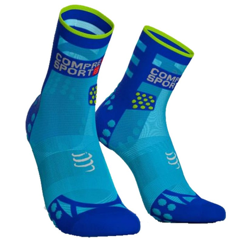 MEIAS RACING SOCKS V3.0 ULTRALIGHT RUNNING HIGHT FLUO BLUE