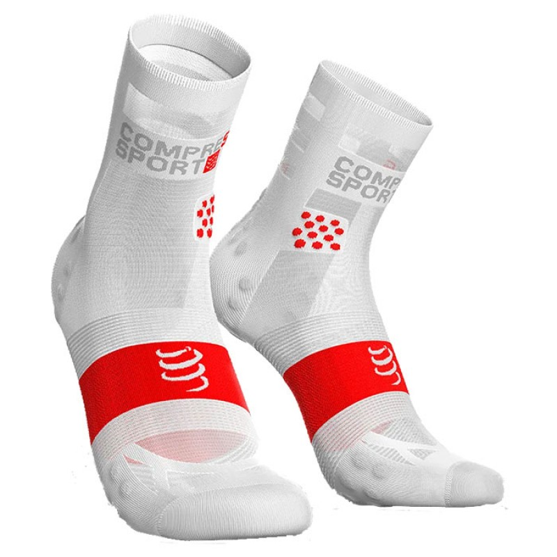 MEIAS RACING SOCKS V3.0 ULTRALIGHT RUNNING HIGHT WHITE