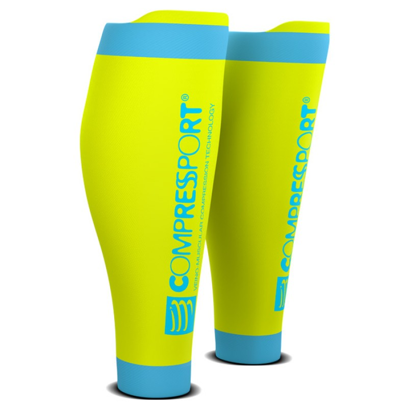 CALF SLEEVE R2 V2 FLUO YELLOW