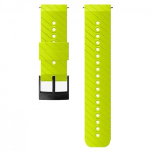 24MM ATHLETIC 3 SILICONE STRAP LIME/BLACK