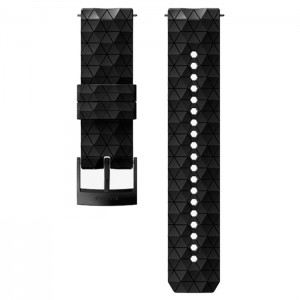 24MM EXPLORE 2 SILICONE STRAP BLACK/BLACK