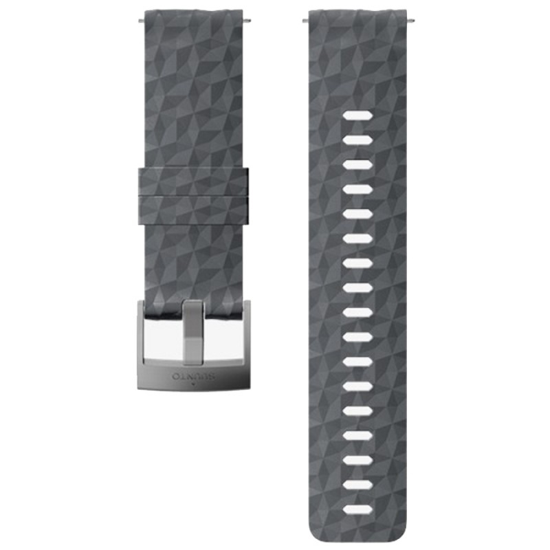 24MM EXPLORE 1 SILICONE STRAP GRAPHITE/GRAY