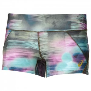 BOOTY SHORT W ABSTRACT NUAGE