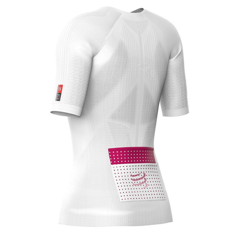 TRAIL RUNNING POSTURAL SS TOP W WHITE