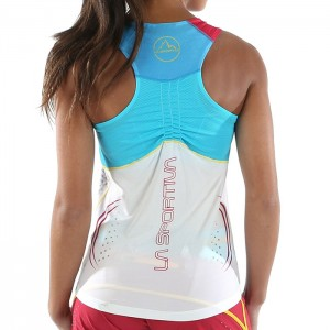 SPRINT TANK W MALIBU BLUE/WHITE