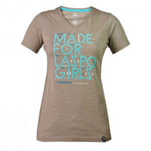 FOR LASPO GIRLS T-SHIRT W TAUPE