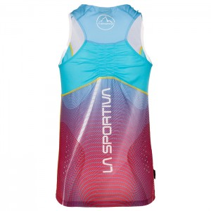SPRINT TANK W BERRY/MALIBU BLUE