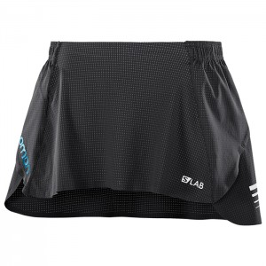 S-LAB SKIRT W BLACK/BLUE