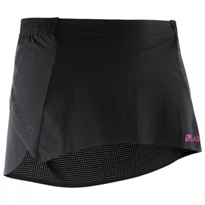 S-LAB LIGHT SKIRT 3 W BLACK