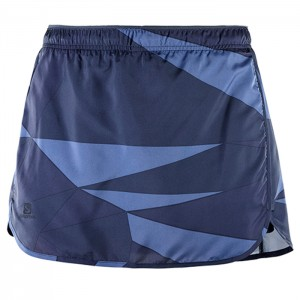 AGILE SKORT W NIGHT SKY/GY/CROWN BLUE