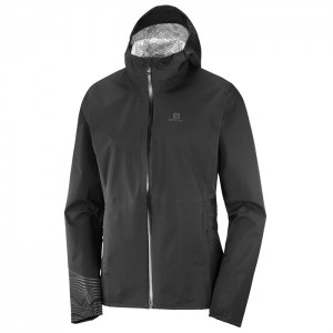 LIGHTNING WATERPROOF JKT W BLACK/REFLECTIVE