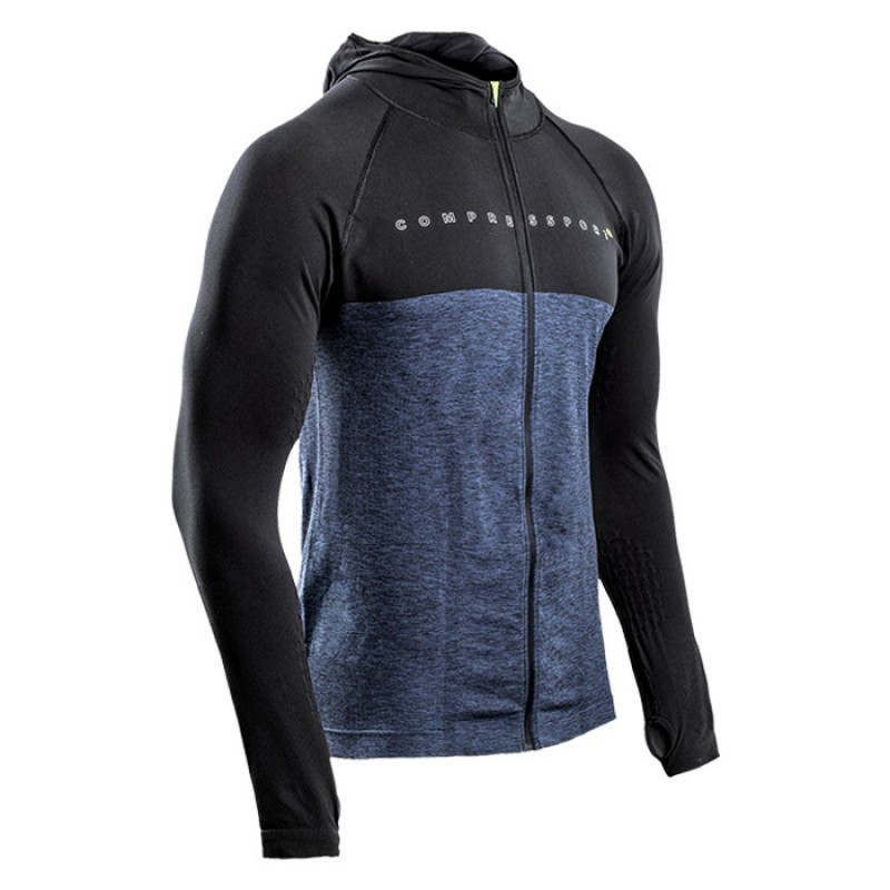 3D THERMO SEAMLESS ZIP HOODIE BLACK EDITION 10