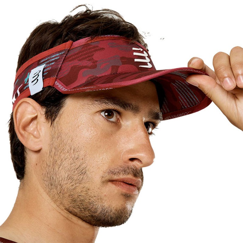 VISOR ULTRALIGHT CAMO NEON 2020 BURGUNDY