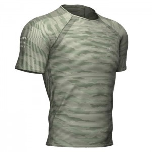TRAINING SS TSHIRT CAMO STRIPE SLATE GREEN